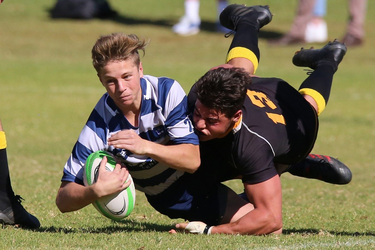 rugby, tackle, sport